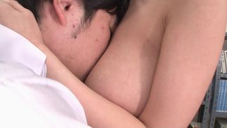 Mouthwatering maid Sayuki Kanno with round mounds bows over and receives a thorough banging