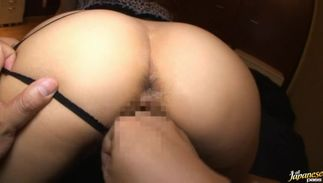 Exquisite Rin with large tits loves teasing her fanny previous to sucking penis