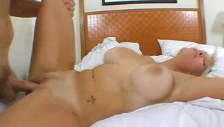 Playsome blond beauty Charlee Chase with impressive natural tits wants pussy tester to smashed her super hard