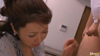 Swingeing bosomed Risa Kasumi is sharing donga in perfect video clip