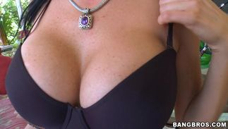 Naughty minx Alexis Fawx with giant tits getting spoon fucked so unfathomable