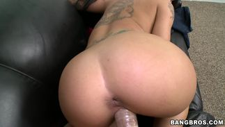 Sexual playgirl Christy Mack with massive tits is whimpering on her pal's hard boner