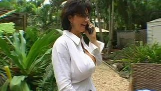 Handsome playmate is amazed by cunning big breasted diva Deauxma's sausage riding skills