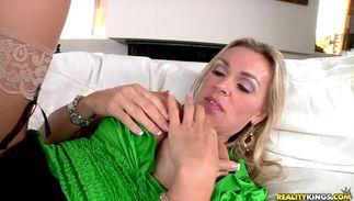 Slender big boobed blond girl Tanya Tate can't wait to be deeply penetrated