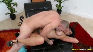 Aphrodisiac big titted latin Miss Raquell gets her juicy lovebox drilled with great effort