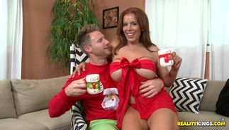 Dude are making lovely redhead Nicky Ferrari with massive tits horny and crazy to fuck