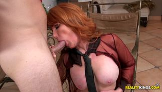 Lusty latin Freya Fantasia with massive tits is breathtaking and reaches a giant top