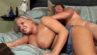 Voracious big boobed Rachel Love takes a firm slim jim in her tight cunny