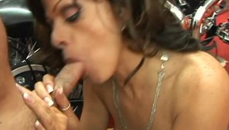 Lovable brunette chick Arianna Labarbara with impressive tits and stud seem to like each other way more than friends
